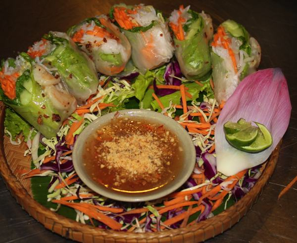 Success!  A fresh dish of Spring Rolls