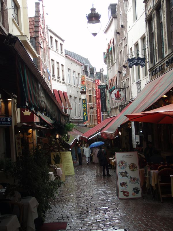 The Streets of Brussels Lined with Cafes