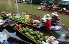 Delicious Food Boats in the Market