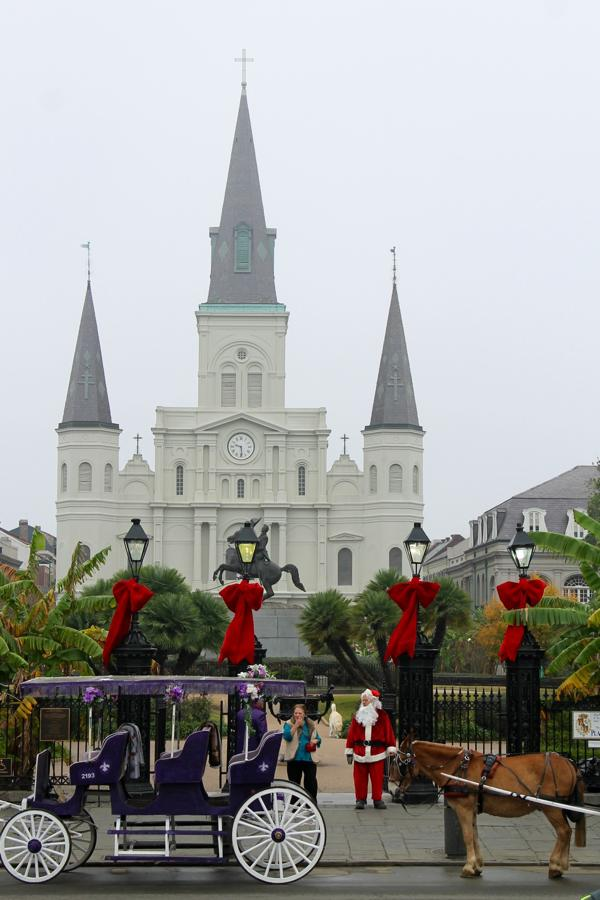 Santa Makes an Appearance at Jackson Square