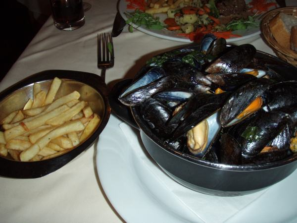 Delicious Moules Frites