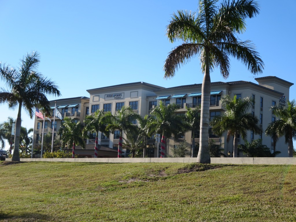 Four Points Sheraton in Punta Gorda Surrounded by Palm Trees