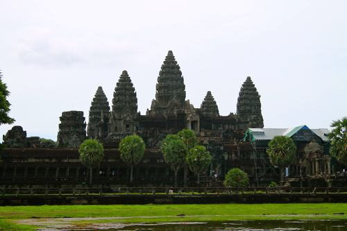 The spires at Angkor Wat