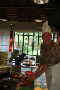 Chef Cheryl Prepping the Veggies