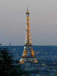 The Eiffel Tower Sparkles at Night