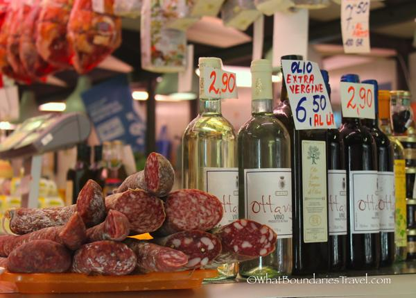 Delicious Meats and Wines at the Market