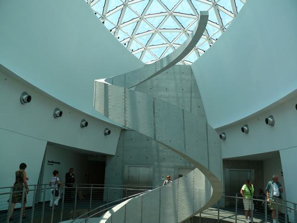 Inside Spiral Art at the Dali Museum