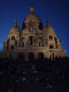 Beautiful Sacre Coure at Night