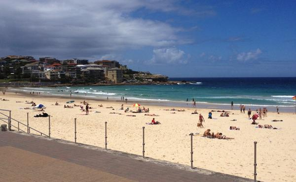 Beautiful blue waters of Bondi Beach