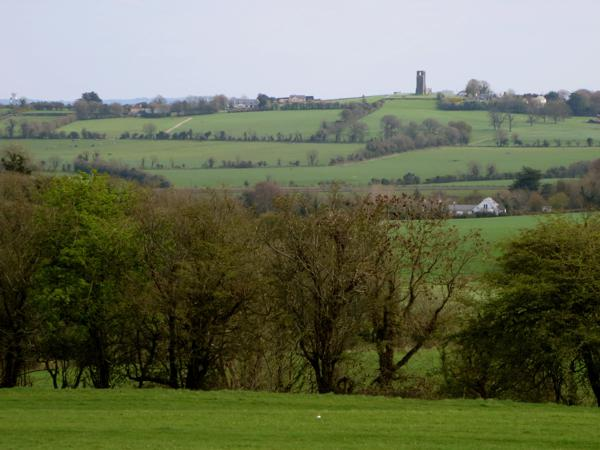 View of Hill of Slane in the distance