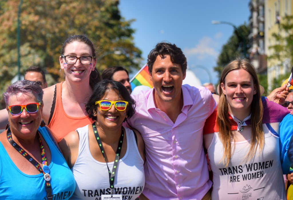 Vancouver Gay Pride March With PM Justin Trudeau!
