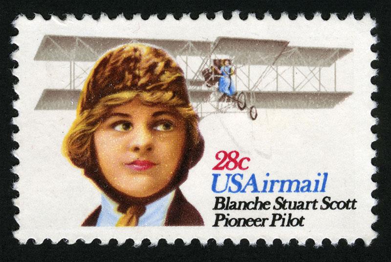 Postage Stamp Blanche Stuart Scott
