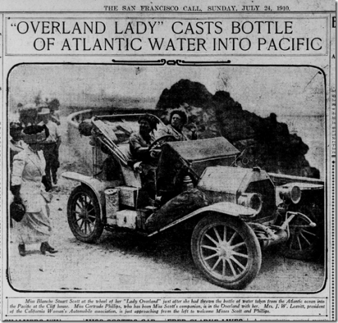 overland lady blanche scott